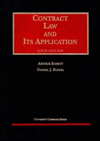 Contract law and its application