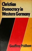 Download Christian democracy in Western Germany