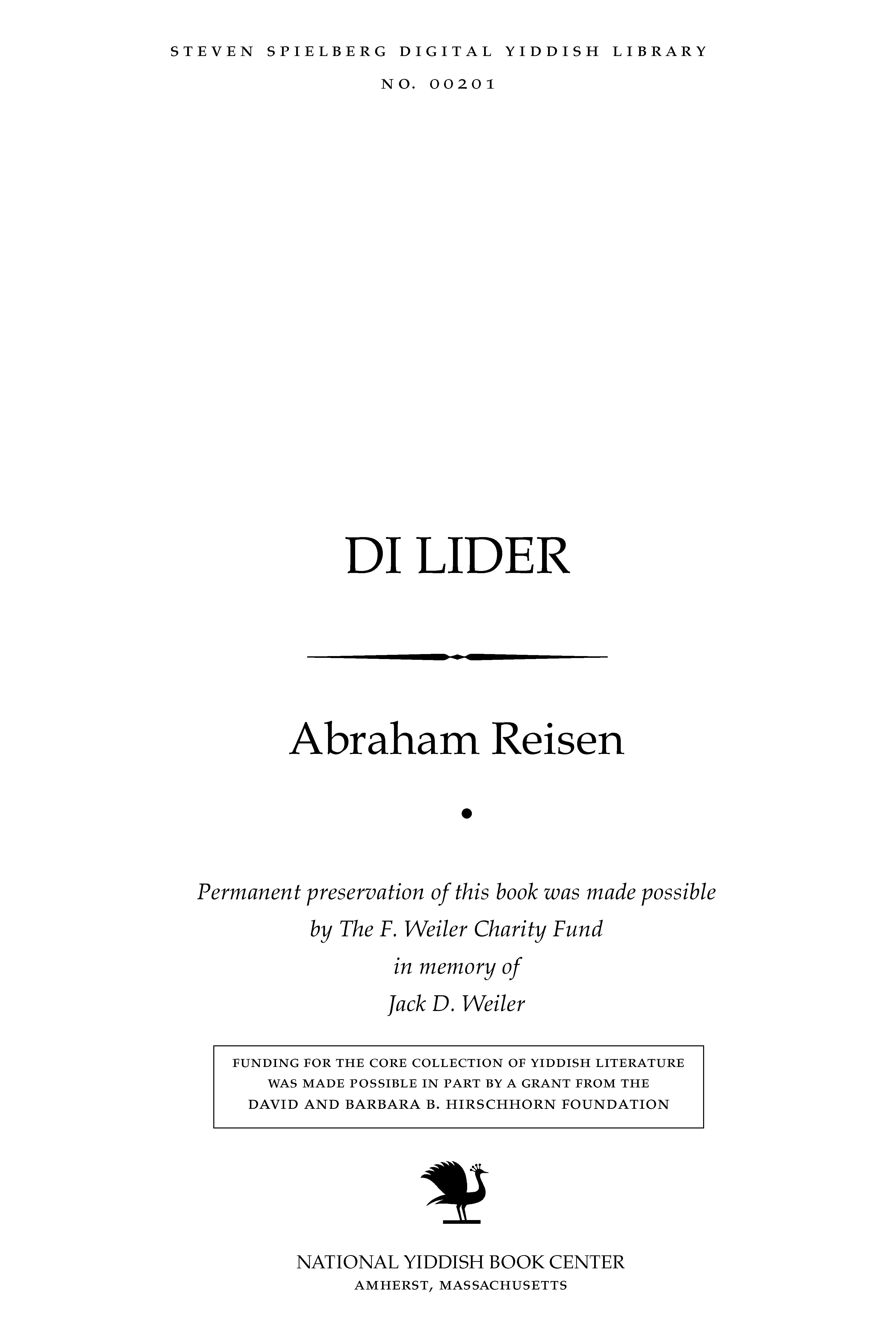 Cover of: Di lider